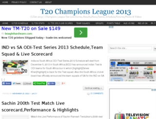 t20championsleague2013.com screenshot