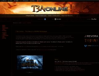 t3aonline.net screenshot