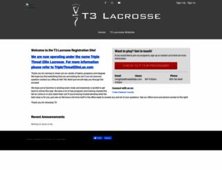 t3lax.leagueapps.com screenshot