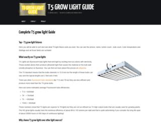 t5growlightguide.com screenshot