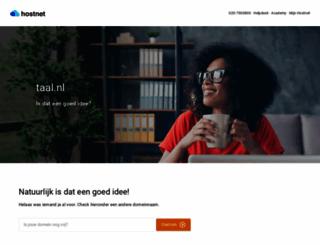 taal.nl screenshot
