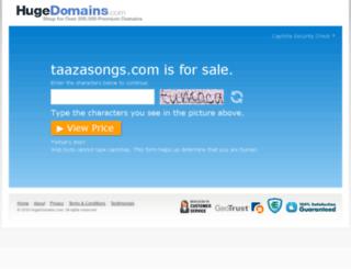 taazasongs.com screenshot