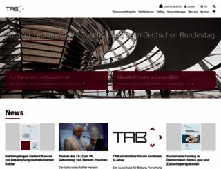 tab-beim-bundestag.de screenshot