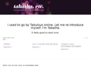 tabathaetc.com screenshot
