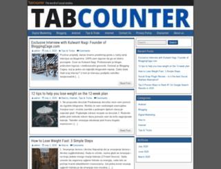 tabcounter.com screenshot