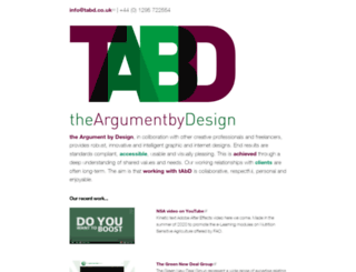 tabd.co.uk screenshot
