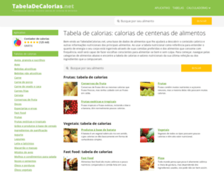 tabeladecalorias.net screenshot
