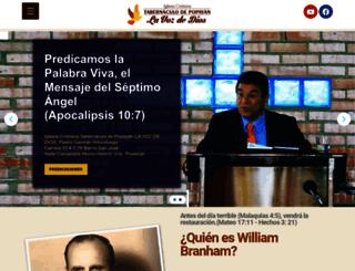 tabernaculopopayan.org screenshot
