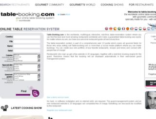table-booking.com screenshot