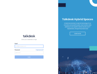 tableair.mytalkdesk.com screenshot