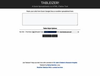 tableizer.journalistopia.com screenshot