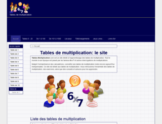 tables-multiplication.com screenshot