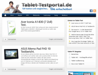 tablet-testportal.de screenshot