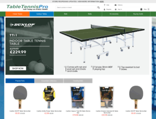tabletennispro.co.uk screenshot