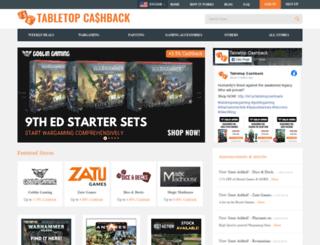 tabletopcashback.com screenshot