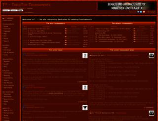 tabletopturniere.de screenshot