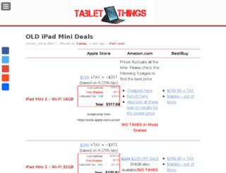 tabletthings.com screenshot