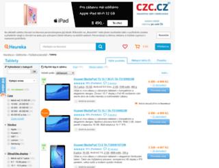 tablety.heureka.cz screenshot