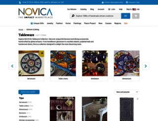 tableware.novica.com screenshot