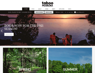 tabooresort.com screenshot