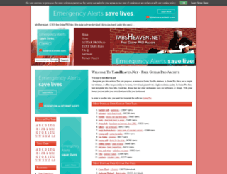tabsheaven.net screenshot
