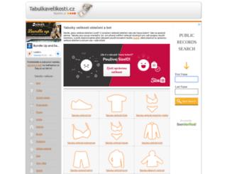 tabulkavelikosti.cz screenshot