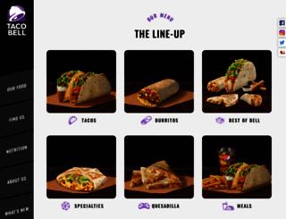 tacobell.co.in screenshot