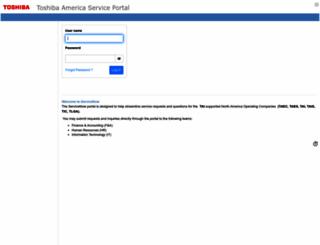 tacp.toshiba.com screenshot