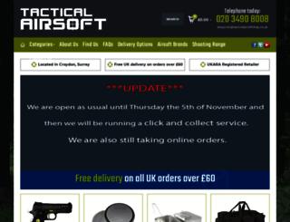tacticalairsoftshop.co.uk screenshot