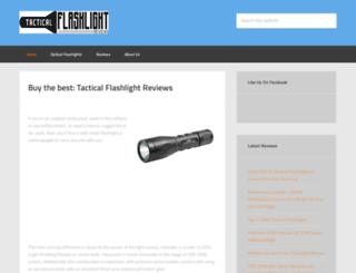 tacticalflashlightreviews.org screenshot