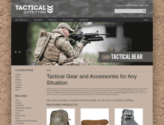 tacticaloutfitting.com screenshot