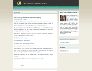 tacticalphilanthropy.com screenshot