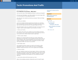 tacticpromotionsandtraffic.blogspot.com screenshot