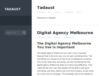 tadaust.org.au screenshot