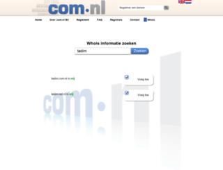 tadim.com.nl screenshot
