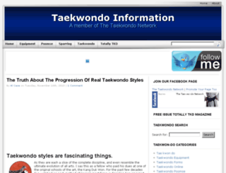 taekwondo-information.com screenshot