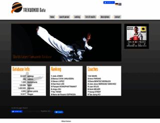 taekwondodata.com screenshot