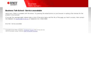 tafetimetables.rmit.edu.au screenshot