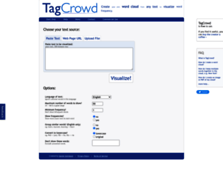 tagcrowd.com screenshot