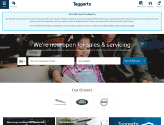 taggarts.co.uk screenshot