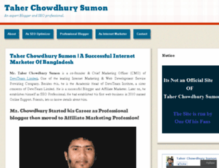 taherchowdhurysumon.wordpress.com screenshot