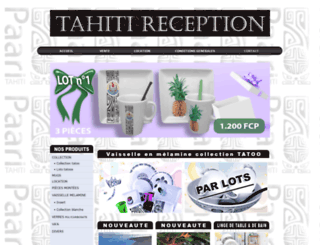 tahitireception.com screenshot