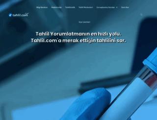 tahlil.com screenshot
