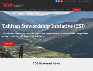 tahltan.org screenshot