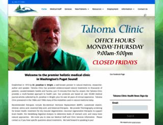 tahomaclinic.com screenshot