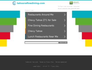 tahoorafinedining.com screenshot