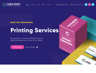 taibaprint.com screenshot