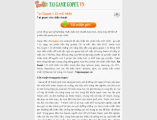 taigamegopet.vn screenshot