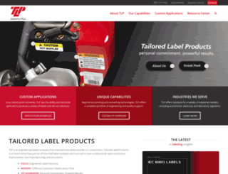 tailoredlabel.com screenshot