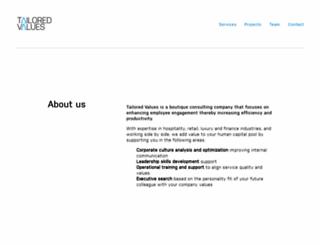 tailoredvalues.com screenshot